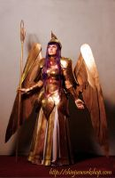 Athena Saint Seiya cloth cosplay by ShinjusWorkshop