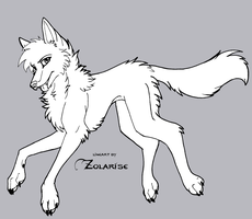 MS Wolf Lineart by Zolarise