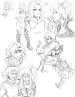 Naru kids: just some sketches by Nishi06