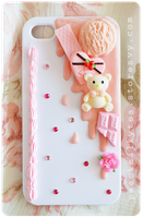Strawberry Sauce iPhone 4/4s Decodan Case by PeachMilktea