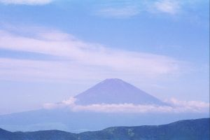 Mt. Fuji at a Distance by obsessedsokkafangirl