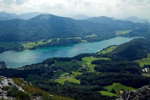 Fuschlsee from above by cluster5020