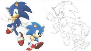 Sonic Generations Sketch by Cyan-Frost