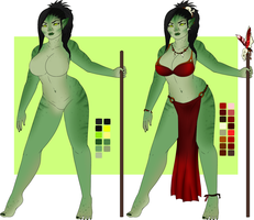 Orc Girl by oCrystal