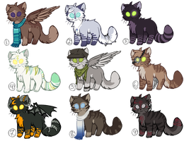 Feline Adoptables Auction llClosedll by StarryEvening