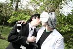 Death the Kid kisses Dr Stein by FM-Revolution