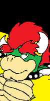 Bowser laying down by Stone-Hedgehog