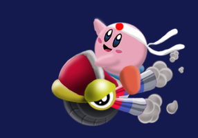 Wheelie Kirby by AcerBandit