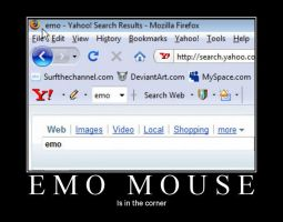 Emo Mouse Motivation Poster by Broshang