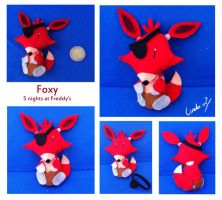 Foxy plushie by I-Am-Bleu