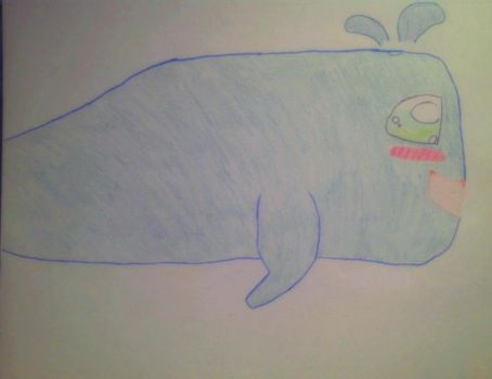 Kawaii whale by Primthekitty