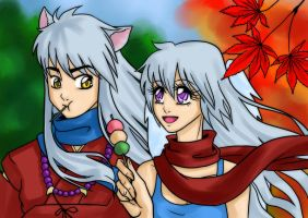 +comm+ Kiara and Inuyasha by Zsanci-MoKa