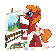 Paintbrush Splotch by AlealiaKitsune
