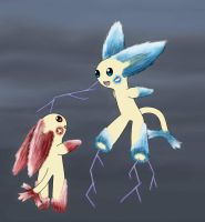 Plusle and Minun evolution concept by Bhaumat
