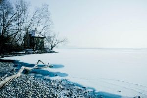 winter on Lake Swiss by QuentinBacchus