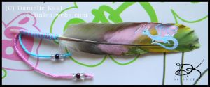 Feather Painting: Flying Dragon by Delinlea
