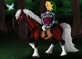 Link and Epona by Invader-Michaela
