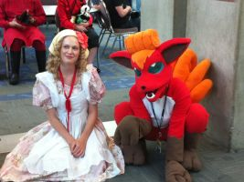Vulpix and Trainer Fanime 2011 by LadyAkeldama