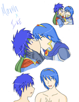 Marth x Ike draws. by SparxPunx