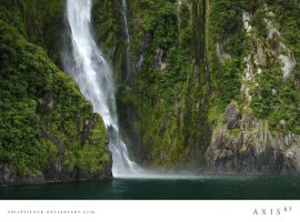 waterfall_milfordsoundnz by axis85stock