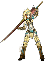 Monster hunter character by AWittyStatement