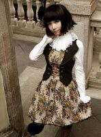 Infanta Victoria Lace Up Button Lolita Dress by miccostumes