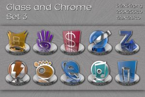glass and chrome icons   set 3 by xylomon