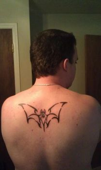 Tribal Bat Tattoo by o0Psy0o