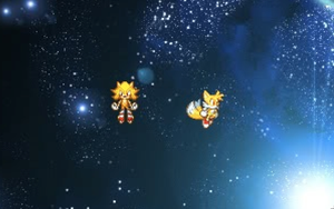 Super Sonic And Super Tails by ShadowTheHedgie1997