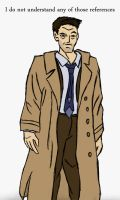 Castiel does not understand any of your references by mmcfacialhair