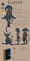 Second Draft Ref Sheet- Fuzles by Tzelly-El