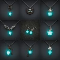 Glowing necklaces and earrings - May 5th by FrozenNote
