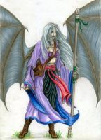 Ghost the Dragonblooded colour by Mistresselysia