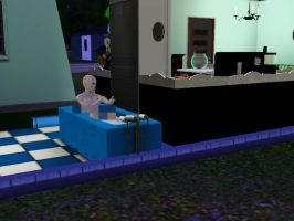 Voldemort in the bathroom by Lucius007
