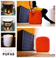 Pouffe from plastic bottles by erezija