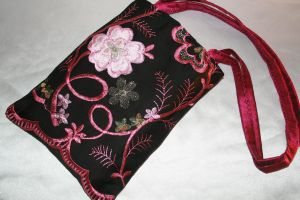 Small Tote Bag Black and Pink by FranyaBlue