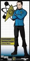 Commander Sheldon Cooper by stourangeau