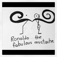 Ronaldo The Fabulous Moustache by art4life217