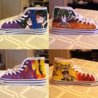 homemade My Chemical Romance shoes by 3cheersforart