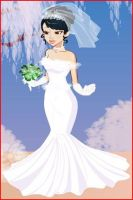 HG: Katniss Wedding Dress by jellybean5898