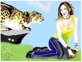 Kime and the snow leopard by UnknownSingularity