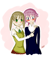 Maka and Crona by Mollyandfriends