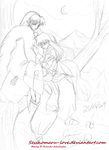 Sesshomaru  and Rin ( sketch for a new projet ) by Sesshomaru-love
