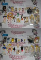 SAILOR MOON KEYCHAINS AND FIGURES FOR SALE by prinsesaian