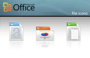 Mircosoft Office file icons by Monkeyrumen