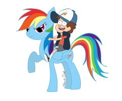 Gravity Falls and My little pony :3 by AnnSGH