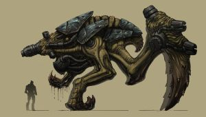 Epic Alien Biomech Boss by KhezuG
