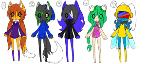free adoptables 9*CLOSED* by ookami8118