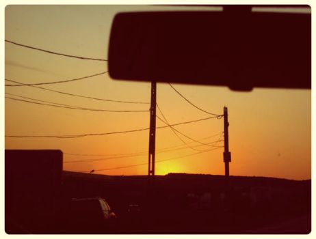 sunset on the windscreen by WinterWood91