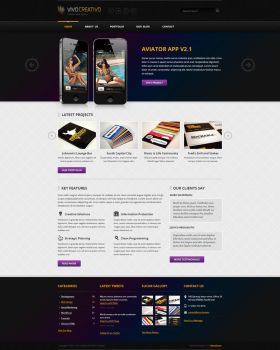 VivoCreativo PSD Web Template by sadykov